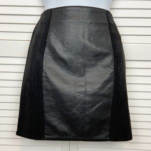 H&M Divided Faux Suede and Leather Skirt Size 6